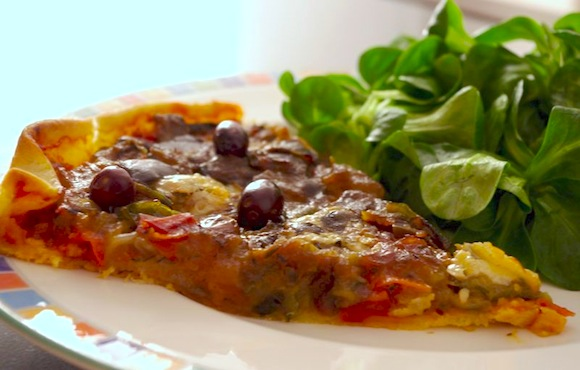 tarte ratatouille roquefort