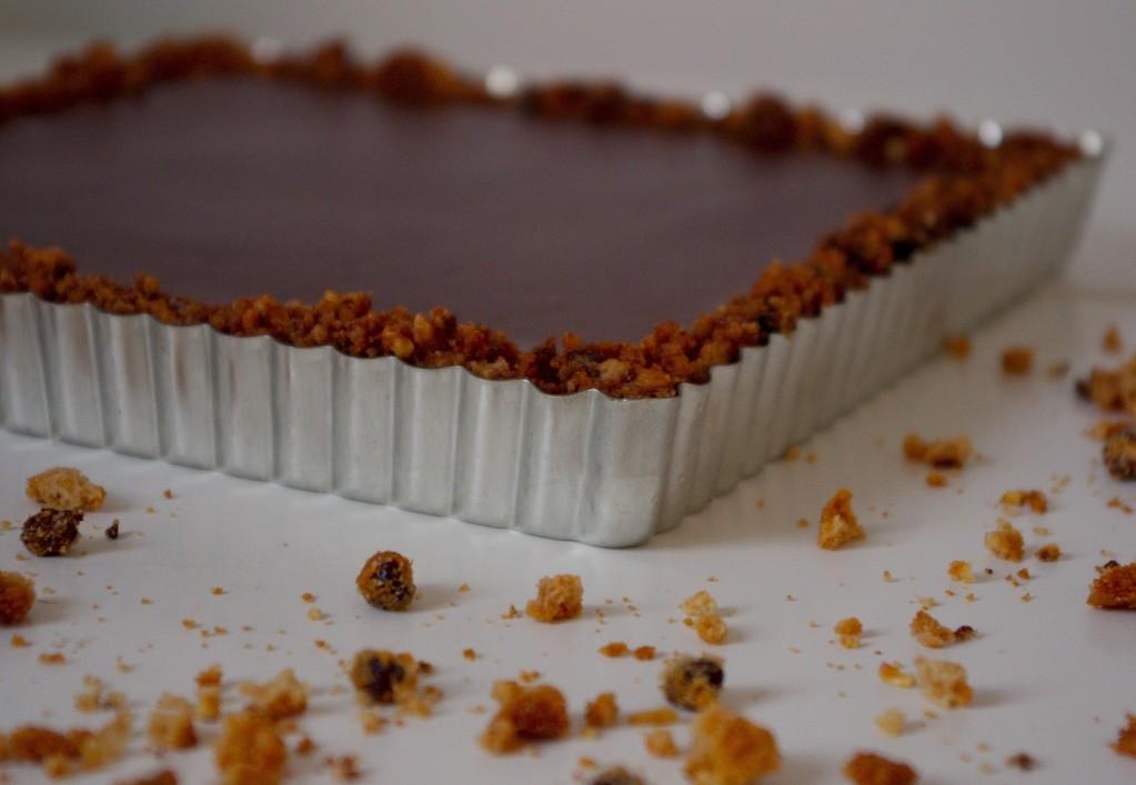 IMGP0584bis1 1023x707 Roman de plage   Tarte au chocolat, base cookies sans cuisson