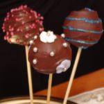 Cake pops chocolat, glaçage chocolat