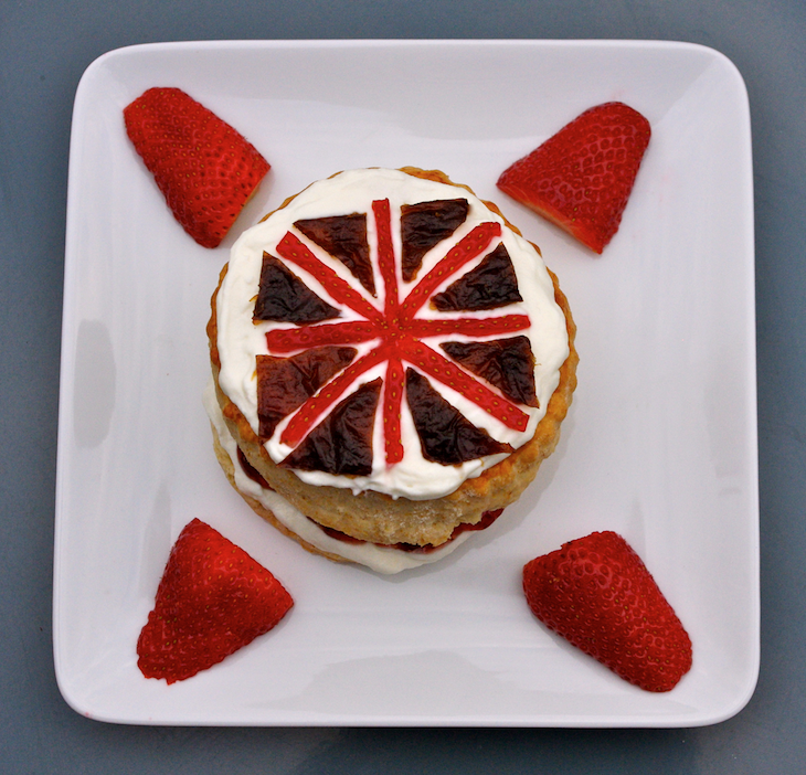 scones drapeau anglais 2 Royal wedding party   Scones & Crème Devonshire
