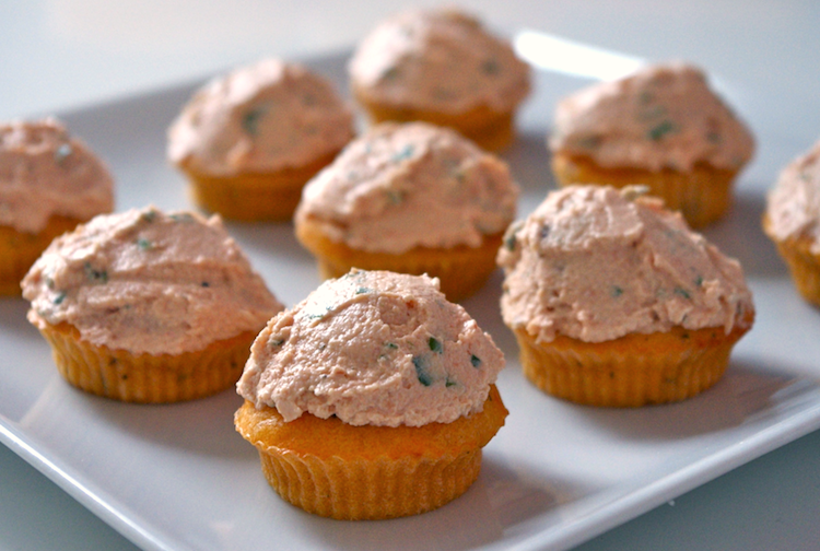 Cupcakes tout tomate glacage fromage frais tomate