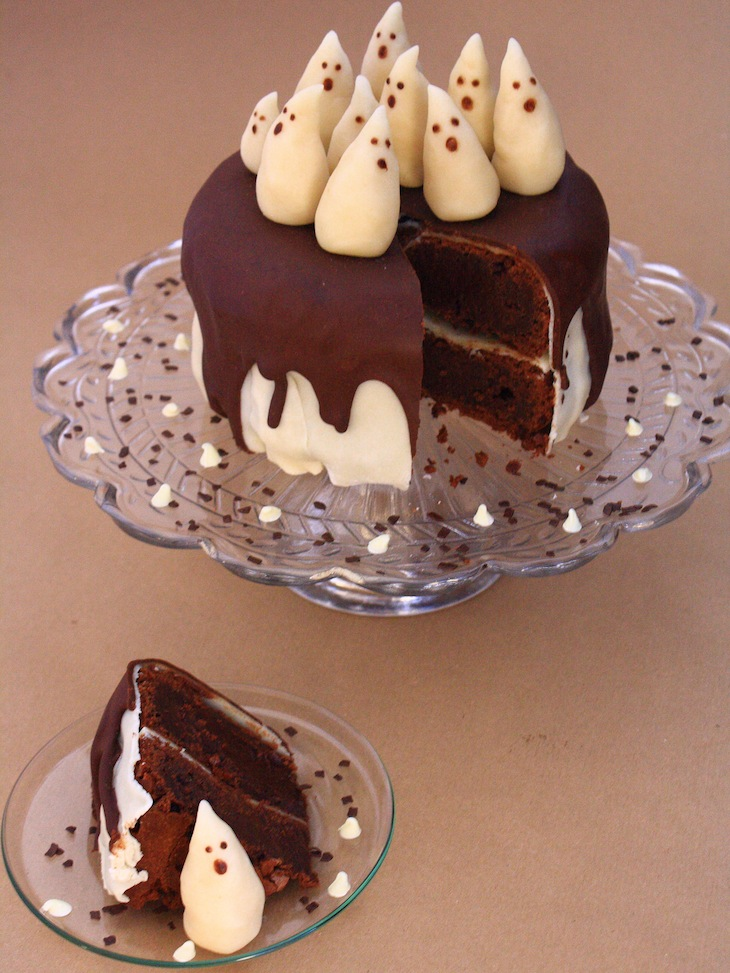 Decoration En Chocolat Pour Gateau : G teau fantôme chocolat p te d amande