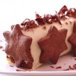 Bûche chocolat-nougat-pâte d'amande