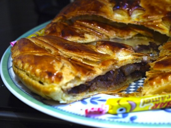 Galette des Rois poires-carambars