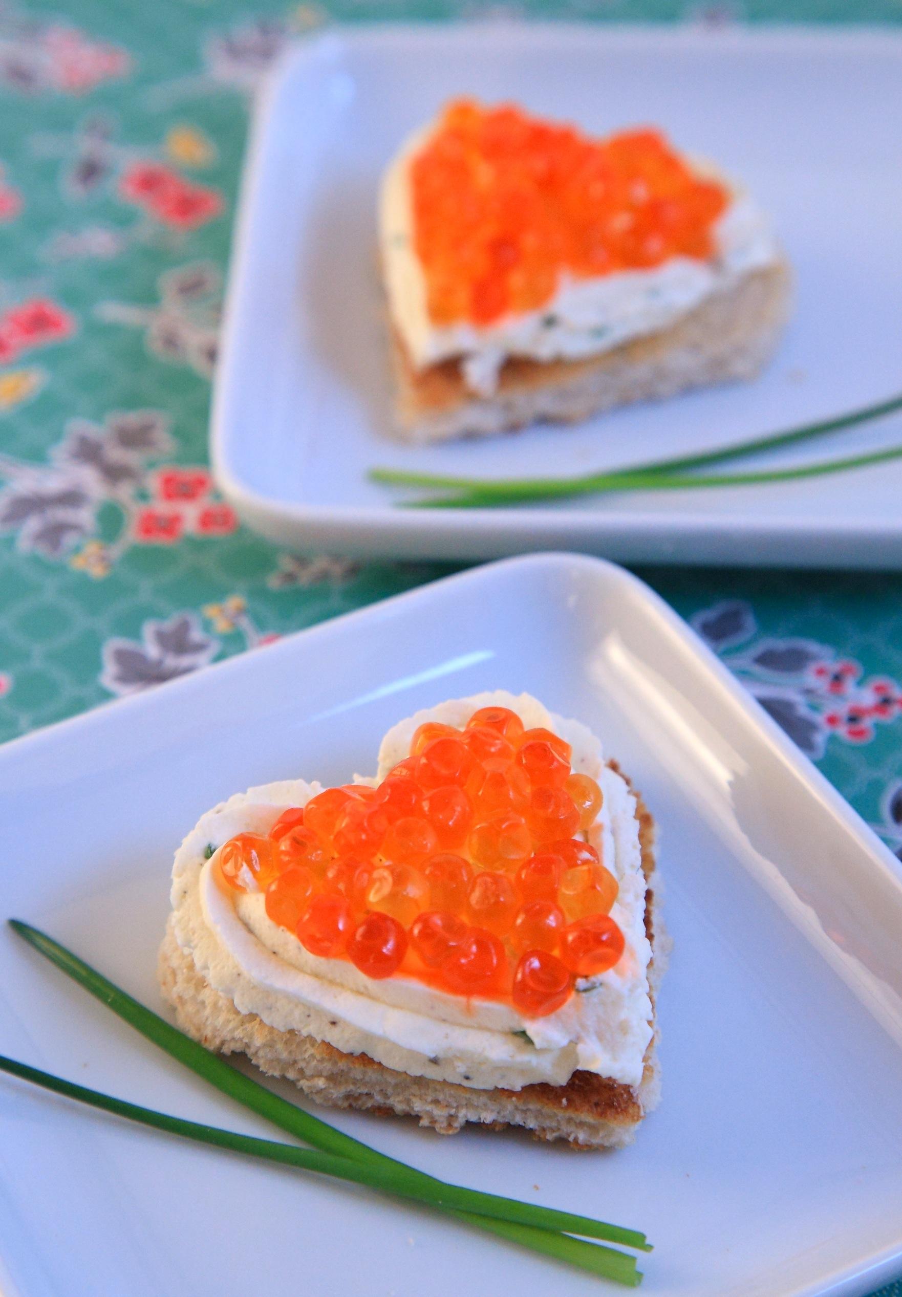 toast chantilly salée citron fines herbes oeufs de saumon