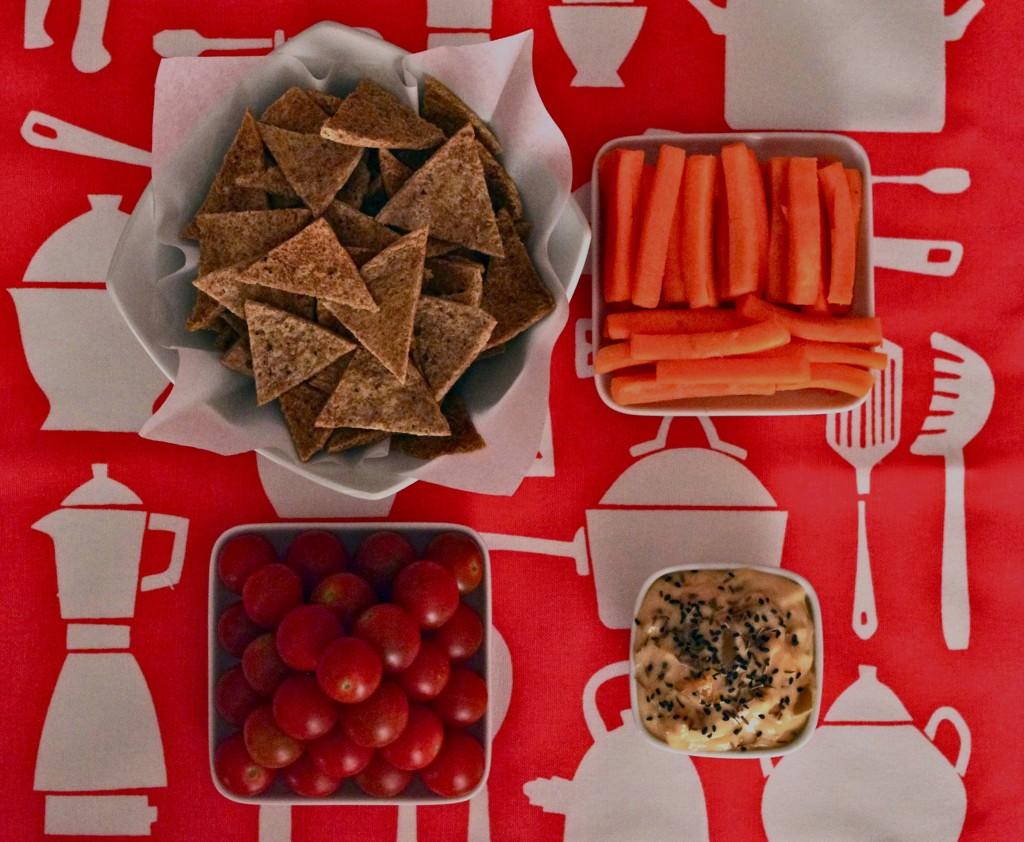 IMGP23261 1024x842 Apéro léger et sauce secrète   Chips de pitta au poivre & sauce dips mango chutney fromage frais