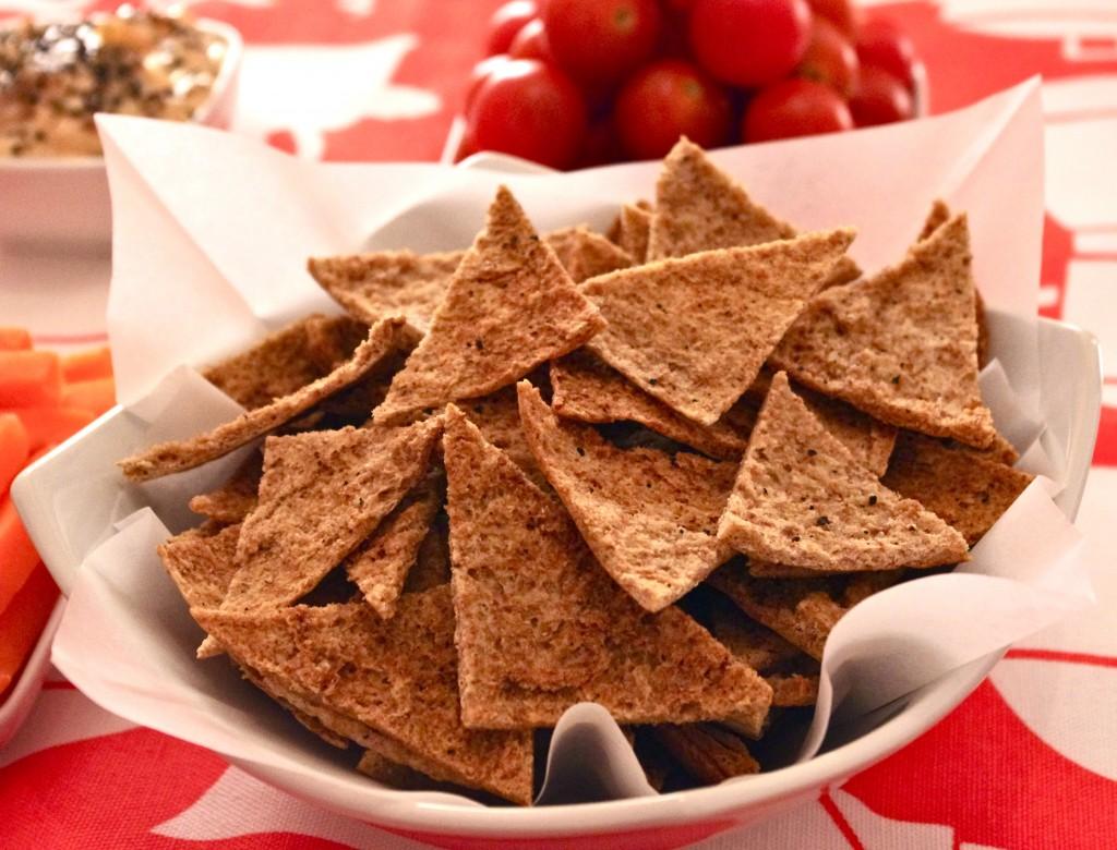 IMGP23341 1024x780 Apéro léger et sauce secrète   Chips de pitta au poivre & sauce dips mango chutney fromage frais