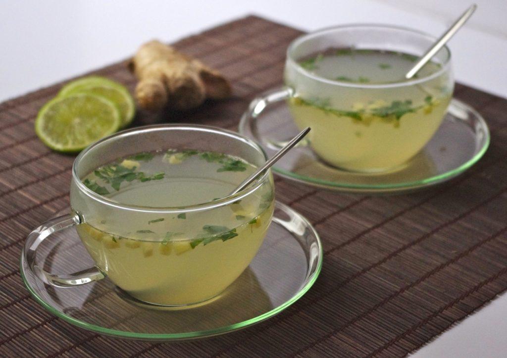 infusion detox citron vert gingembre menthe miel