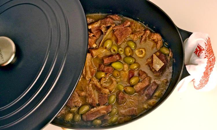 tajine olives vertes citrons confits Retour de Marrakech #2   Tajine dagneau olives vertes citron confit