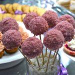 Cake pops salés au chutney de mangue, enrobage jambon blanc