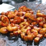 Gambas teriyaki mangue plancha 150x150 Index des recettes