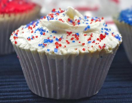 cupcakes electoraux glacage tricolore vanille