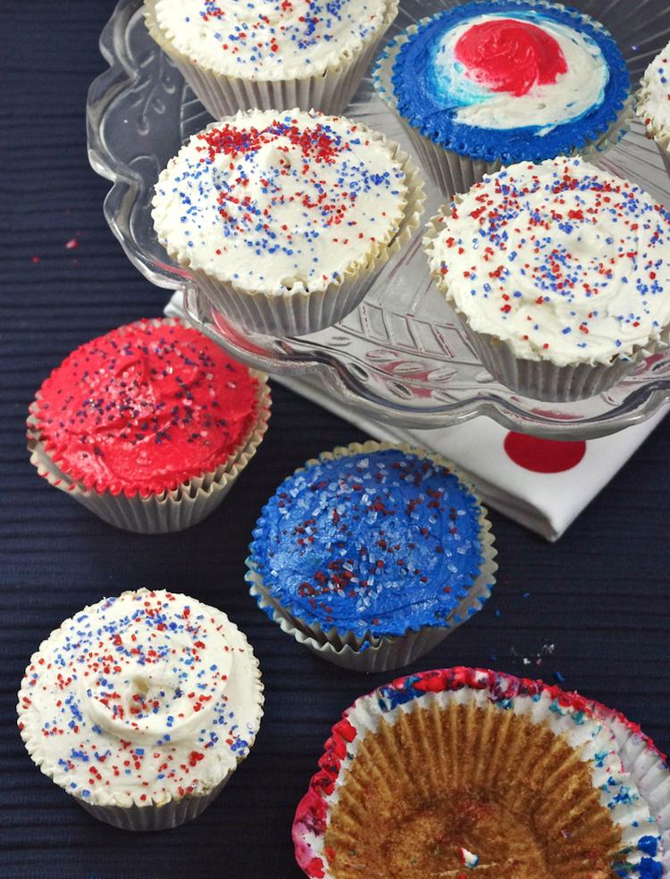 cupcakes electoraux glacage vanille glacage tricolore