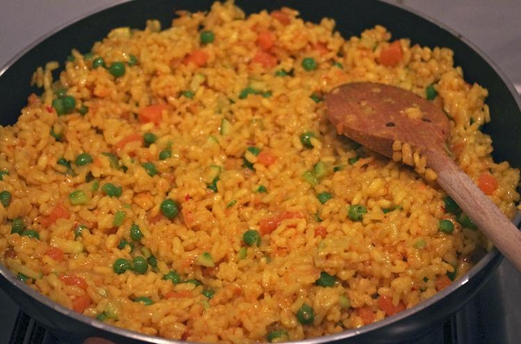 risotto safran petits légumes