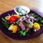 Salade tiede boeuf sauce avocat 150x150 Viandes rouges
