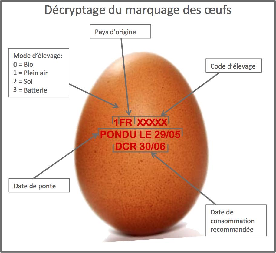 Decryptage marquage oeufs1 Le point sur les œufs   Trucs, astuces et cuisson des œufs en vidéo