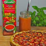 Tarte tomates cerises, tapenade, pignons