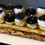 St-Honoré revisité vanille-sésame noir
