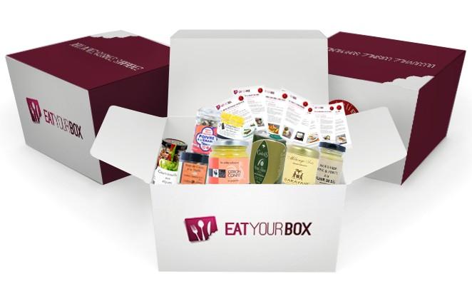 BOX SEPTEMBRE AVEC PRODUITS e1346948439499 La box culinaire Eat your Box débarque dans votre cuisine   Ouverture de abonnements demain