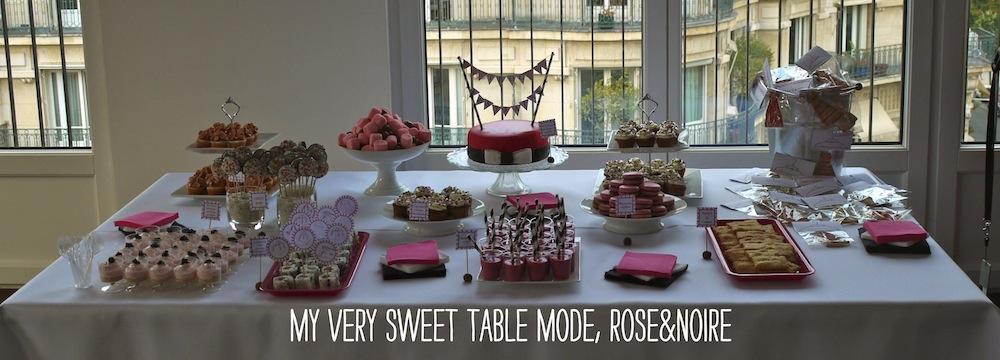 Sweet table mode rose noir Sweet Table Mode rose & noire   Comment réaliser sa première Sweet Table ?