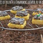 Carrés de polenta & champignons crémeux au vin blanc