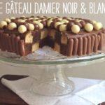 Gâteau-damier noir&blanc