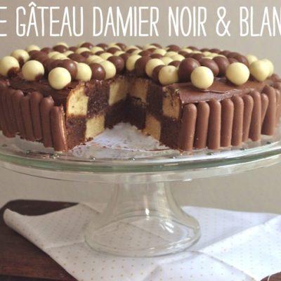 Gâteau damier noir & blanc