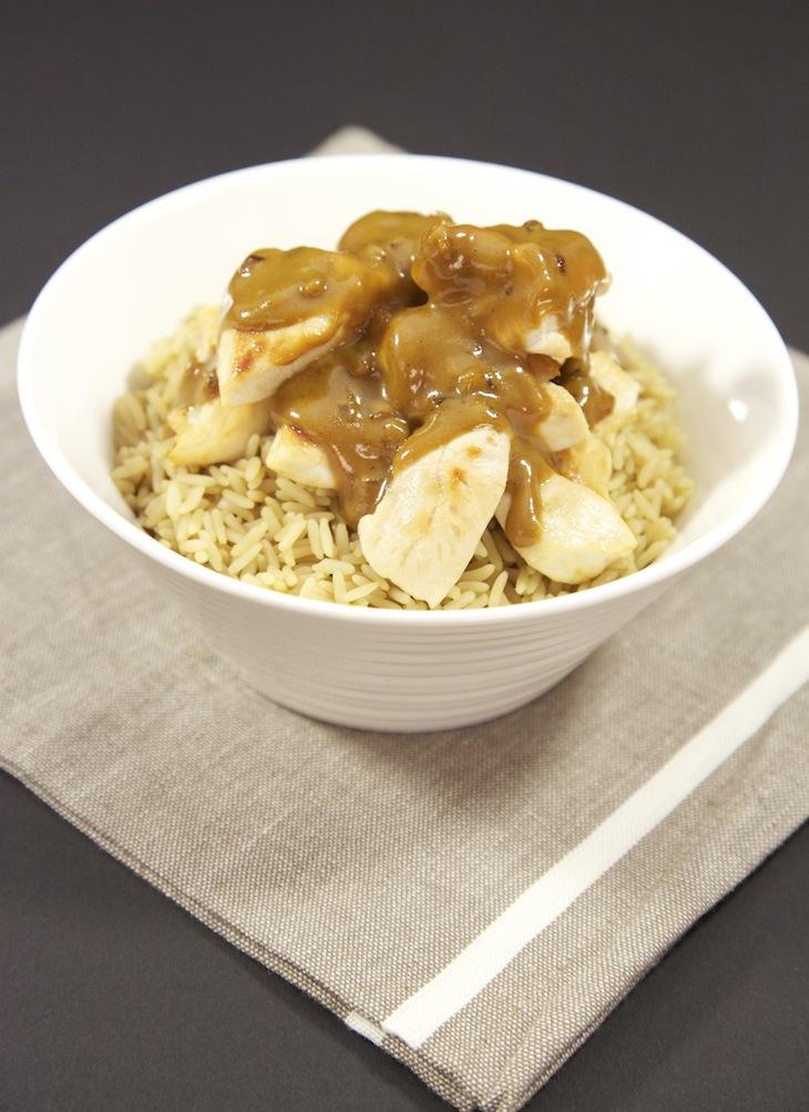 Poulet sauce réglisse et riz réglissé