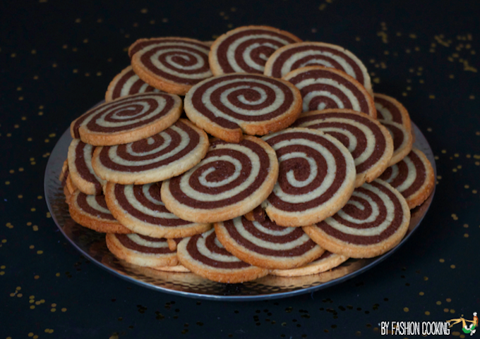 Biscuit roule vanille chocolat
