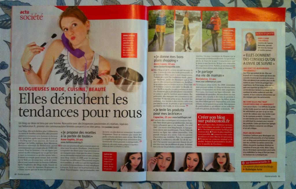 Articel Femme Actuelle 1024x656 Revue de presse