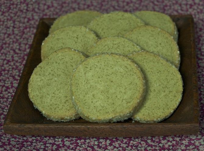 Sablés diamant au thé vert matcha
