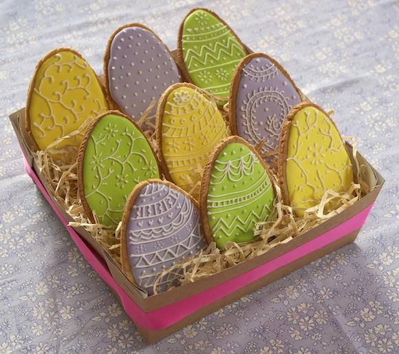 paques sables decores Joyeuses Pâques   Sablés œufs de Pâques colorés [en vidéo]
