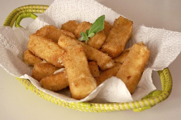 beignets mozarella panés