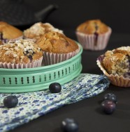 blueberry muffins macadamia chocolat blanc