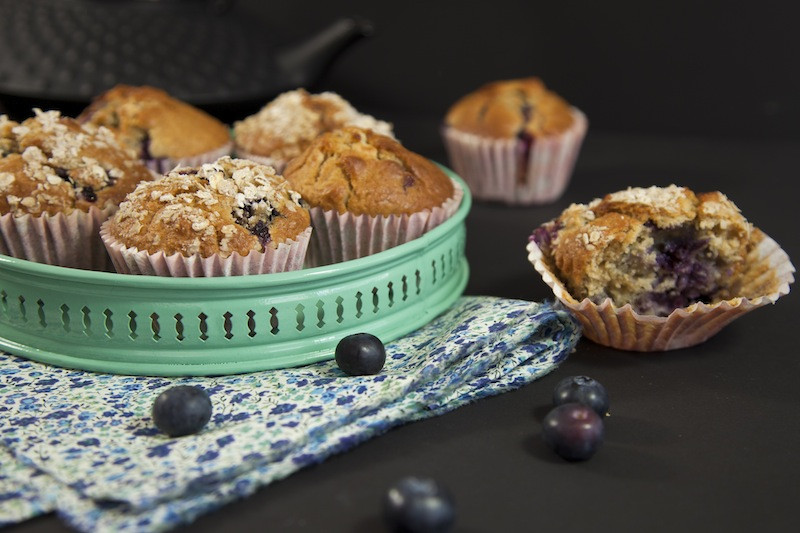 blueberry muffins macadamia chocolat blanc La mode passe...   Parfaits muffins blueberry, macadamia, chocolat blanc