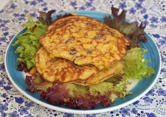 corn pancakes
