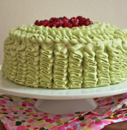 glacage froufrou ruffle cake
