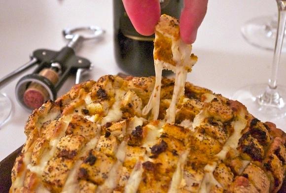 pain a arracher mozza pesto rouge