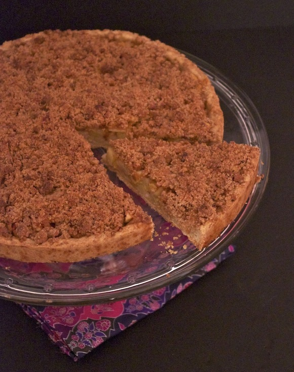 tarte crumble rhubarbe pomme speculoos