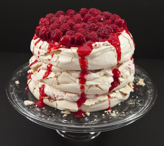 pavlova framboises a tages