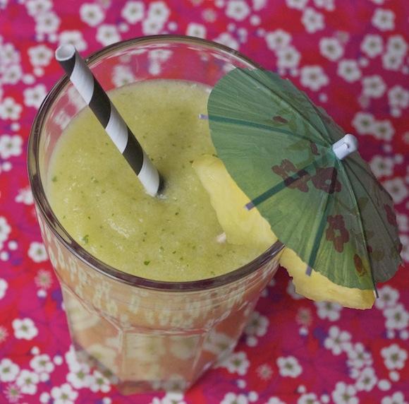 smoothie frais ananas citron vert menthe