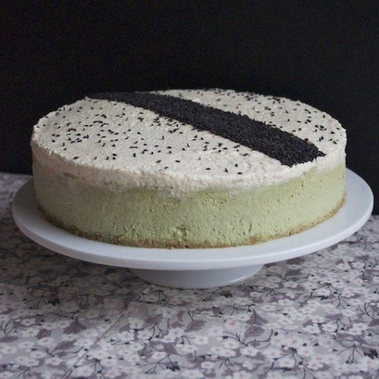 Sublime cheesecake au thé vert matcha