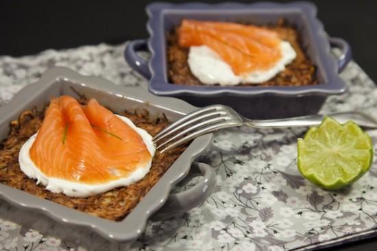 rostis saumon gratin