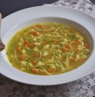 Chicken noodle soup réconfortante