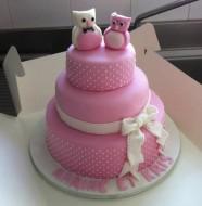 gateau mariage pate a sucre hiboux