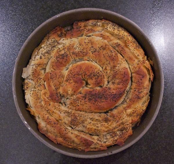 spirale épinards filo feta