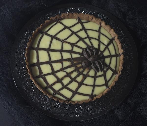 tarte chocolat halloween toile araignee