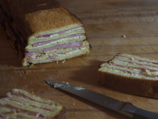 cake croque monsieur