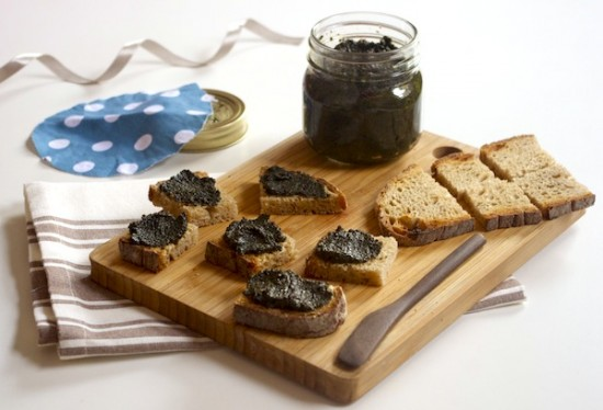 tapenade olives noires cresson