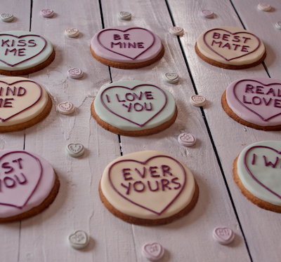 Biscuits Love Hearts